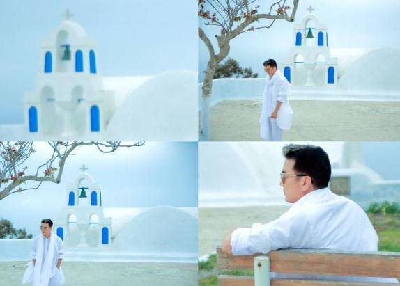 Dam Vinh Hung tung bo anh tai Santorini dep den nao long 2