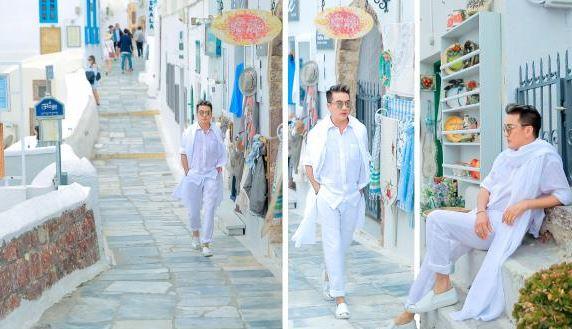Dam Vinh Hung tung bo anh tai Santorini dep den nao long 3